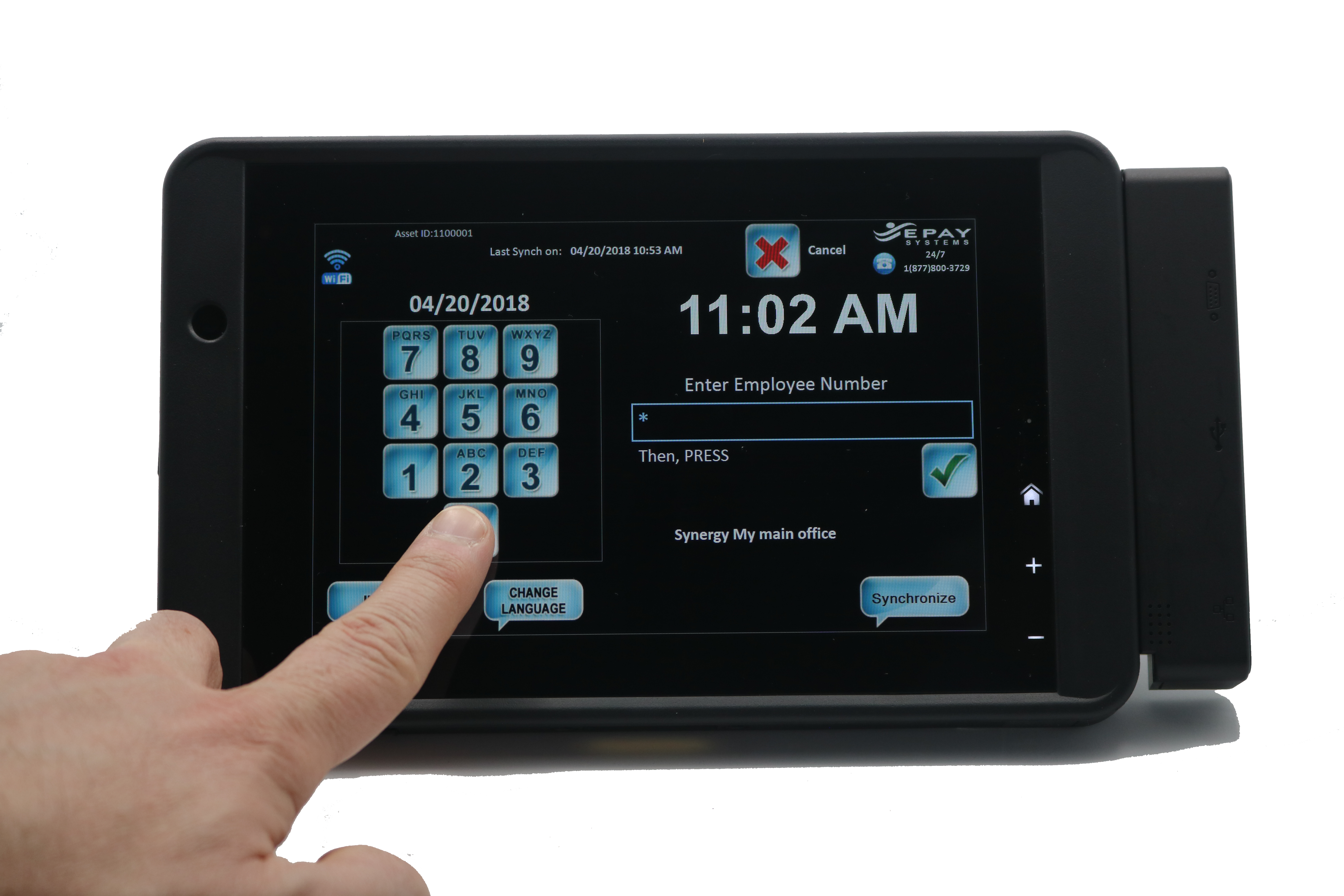 EPAY's New Anywhere, Everywhere Time Clock: the Portable, Powerful WalTer S18